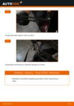 Pakeisti Ašies montavimas AUDI A3: instrukcija