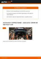 Wie Pendelstütze AUDI A3 auswechseln und einstellen: PDF-Anleitung
