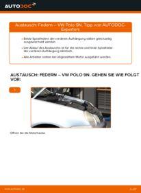Wie der Wechsel durchführt wird: Federn 1.4 16V Polo 9n tauschen