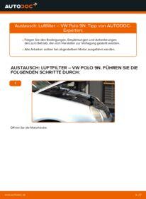 Wie der Wechsel durchführt wird: Luftfilter 1.4 16V Polo 9n tauschen
