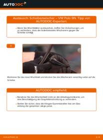 Wie der Wechsel durchführt wird: Scheibenwischer 1.4 16V Polo 9n tauschen