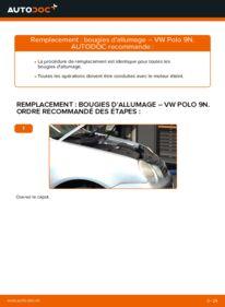 Comment effectuer un remplacement de Bougies d'Allumage sur 1.4 16V VW Polo 9n