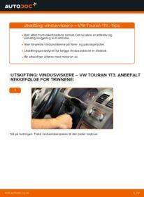 Slik bytter du Vindusviskere på VW TOURAN