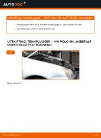 Slik bytter du Tennplugger på VW POLO