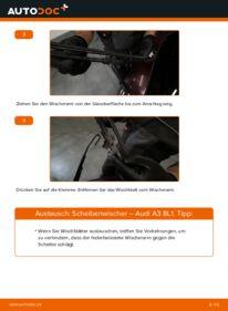 Wie der Wechsel durchführt wird: Scheibenwischer 1.9 TDI Audi A3 8L tauschen
