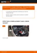 Comment changer Bougies d'allumage essence MERCEDES-BENZ C-CLASS (W203) - manuel en ligne