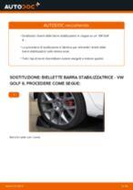 Come cambiare è regolare Tiranti barra stabilizzatrice VW GOLF: pdf tutorial