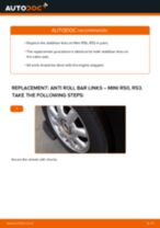 PDF replacement tutorial: Sway bar links MINI Hatchback (R50, R53) rear and front