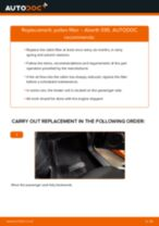 Fitting Stabilizer bushes ABARTH 500 / 595 (312_) - step-by-step tutorial