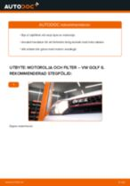 Byta motorolja och filter på VW Golf 6 – utbytesguide