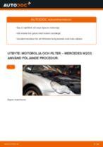 Byta motorolja och filter på Mercedes W203 – utbytesguide