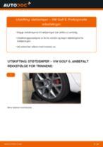 Veiledning på nettet for å skifte Fjærbein i VW GOLF VI (5K1) selv