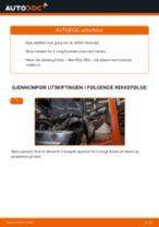 Hvordan bytte og justere Bremsekloss MINI MINI: pdf håndbøker