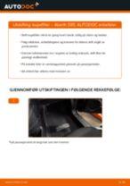 PDF med trinn for trinn-veiledning for bytte av Opel Vectra C Caravan Bærebru