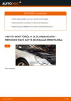 Kuinka vaihtaa moottoriöljy ja öljynsuodatin Mercedes W203-autoon – vaihto-ohje