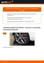 Poradnik krok po kroku w formacie PDF na temat tego, jak wymienić Amortyzator w VW GOLF VI (5K1)