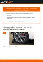 Ako vymeniť zadné pružina podvozku na VW Golf 6 – návod na výmenu