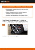 Auswechseln Bremsbacken für Trommelbremse VW GOLF: PDF kostenlos