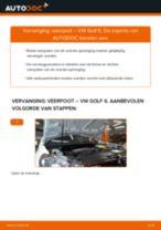 Hoe veerpoot vooraan vervangen bij een VW Golf 6 – Leidraad voor bij het vervangen