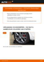 VW GOLF Rubberstrip, uitlaatsysteem vervangen: online instructies