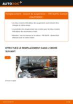 Comment changer : ressort de suspension avant sur VW Golf 6 - Guide de remplacement