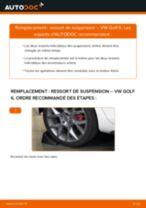 Comment changer : ressort de suspension arrière sur VW Golf 6 - Guide de remplacement