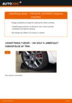 Udskift fjeder bag - VW Golf 6   Brugeranvisning