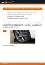 Udskift støddæmper bag - VW Golf 6   Brugeranvisning