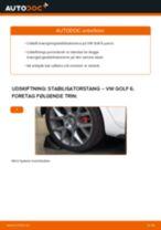 Udskift stabilisatorstang bag - VW Golf 6   Brugeranvisning