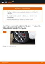 Cómo cambiar: bieletas de suspensión de la parte trasera - VW Golf 6   Guía de sustitución