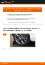 Come cambiare molle di sospensione della parte posteriore su VW Golf 6 - Guida alla sostituzione