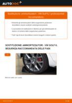 Come cambiare ammortizzatori della parte posteriore su VW Golf 6 - Guida alla sostituzione