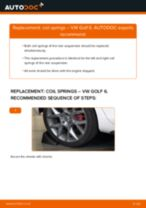 How to change rear coil springs on VW Golf 6 – replacement guide