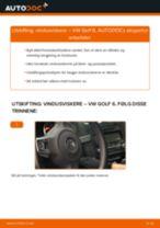 DIY-manual for utskifting av Vindusviskere i VW GOLF 2020