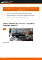 Kuinka vaihtaa joustintuki eteen VW Golf 6-autoon – vaihto-ohje