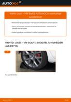 Kuinka vaihtaa jousi taakse VW Golf 6-autoon – vaihto-ohje