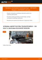 Jak wymienić amortyzator teleskopowy przód w VW Golf 6 - poradnik naprawy