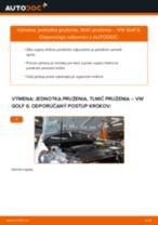 Ako vymeniť predné jednotka prużenia, tlmič prużenia na VW Golf 6 – návod na výmenu