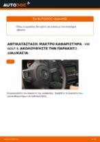 Πώς να αλλάξετε μάκτρο καθαριστήρα πίσω σε VW Golf 6 - Οδηγίες αντικατάστασης