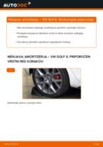 Kako zamenjati avtodel amortizer zadaj na avtu VW Golf 6 – vodnik menjave