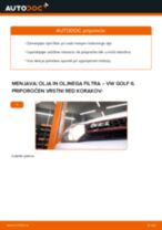 Kako zamenjati avtodel motorna olja in filter na avtu VW Golf 6 – vodnik menjave