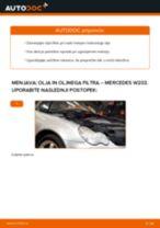 Kako zamenjati avtodel motorna olja in filter na avtu Mercedes W203 – vodnik menjave