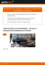 Como mudar kit de suspensão da parte dianteira em VW Golf 6 - guia de substituição