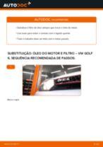 Como mudar óleo do motor e filtro em VW Golf 6 - guia de substituição