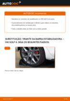 Como mudar tirante da barra estabilizadora da parte traseira em VW Golf 6 - guia de substituição