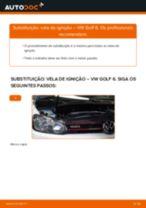 Como mudar vela de ignição em VW Golf 6 - guia de substituição