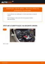 Como mudar vela de ignição em Mercedes W203 - guia de substituição