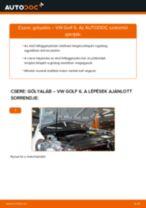 Elülső gólyaláb-csere VW Golf 6 gépkocsin – Útmutató
