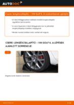 Hátsó lengéscsillapító-csere VW Golf 6 gépkocsin – Útmutató