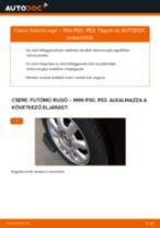 Autószerelői ajánlások - MINI MINI (R50, R53) 1.6 One Rugózás cseréje